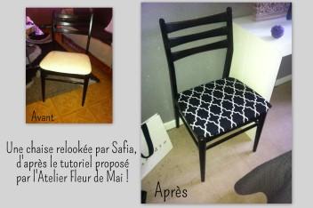 chaise relookée Atelier Fleur de Mai