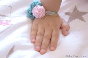 bracelets pompons Atelier Fleur de Mai