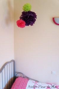 Pompons chambre fillette atelier fleur de mai